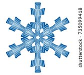 a symbolic snowflake. element... | Shutterstock .eps vector #735099418