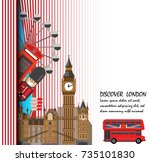 discover london . travel to... | Shutterstock .eps vector #735101830