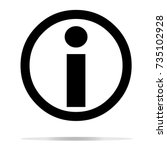 information icon on white... | Shutterstock .eps vector #735102928