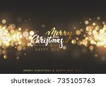 christmas background with... | Shutterstock .eps vector #735105763