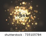 christmas background with... | Shutterstock .eps vector #735105784