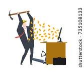 mining bitcoin. minir... | Shutterstock .eps vector #735108133