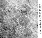 grunge black white. image for... | Shutterstock . vector #735111220