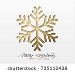 christmas background  design... | Shutterstock .eps vector #735112438