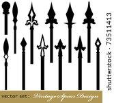 medieval vintage spear design... | Shutterstock .eps vector #73511413
