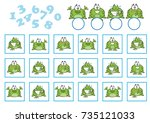 counting game for preschool... | Shutterstock .eps vector #735121033