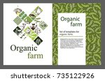 agricultural brochure layout... | Shutterstock .eps vector #735122926