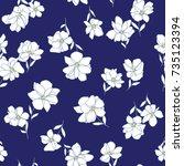 Stock vector flower pattern 735123394