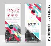 business roll up design... | Shutterstock .eps vector #735126760