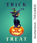 Trick Or Treat  Cat And Face...