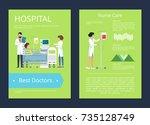 hospital best doctors and... | Shutterstock .eps vector #735128749