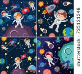Space Scenes With Astronauts...