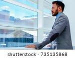 half length portrait of a...   Shutterstock . vector #735135868