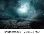 creepy river | Shutterstock . vector #735136750