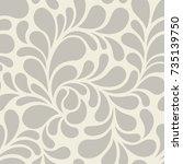 vector seamless pattern. modern ... | Shutterstock .eps vector #735139750