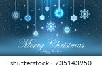 illustration abstract christmas ... | Shutterstock . vector #735143950