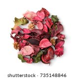 Top View Of Potpourri Isolated...