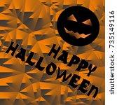 vector halloween orange... | Shutterstock .eps vector #735149116