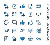 feedback icons   blue version | Shutterstock .eps vector #735154240