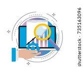 business graph statistics... | Shutterstock .eps vector #735163096