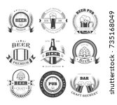 beer vector icons for brewery... | Shutterstock .eps vector #735168049
