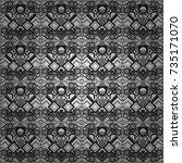 retro seamless wallpaper... | Shutterstock .eps vector #735171070