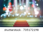 stage lighting background 3d... | Shutterstock . vector #735172198