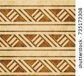 retro brown watercolor texture... | Shutterstock .eps vector #735173308