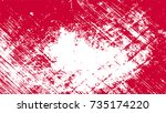red scratches. red paint. blood ... | Shutterstock .eps vector #735174220