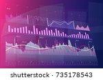 stock market graph. trading... | Shutterstock .eps vector #735178543