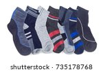 several different pairs of the... | Shutterstock . vector #735178768