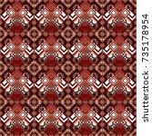vector seamless geometric... | Shutterstock .eps vector #735178954