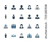 business people icons   blue... | Shutterstock .eps vector #735180508