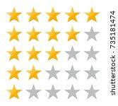 5 star rating. vector...   Shutterstock .eps vector #735181474