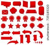symbols set vector illustration | Shutterstock .eps vector #735185320