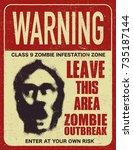 poster zombie outbreak. sign... | Shutterstock .eps vector #735187144
