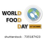 world food day background | Shutterstock .eps vector #735187423