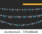 christmas lights isolated... | Shutterstock .eps vector #735188668