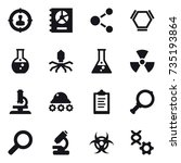 16 vector icon set   target... | Shutterstock .eps vector #735193864