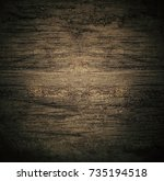 empty wooden texture background ... | Shutterstock . vector #735194518
