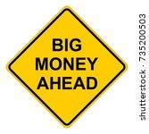 big money ahead  yellow square... | Shutterstock .eps vector #735200503