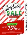 christmas sale banner. vector... | Shutterstock .eps vector #735200740