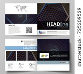 business templates for square... | Shutterstock .eps vector #735209539