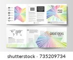 set of business templates for... | Shutterstock .eps vector #735209734