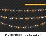 christmas lights isolated... | Shutterstock .eps vector #735211639
