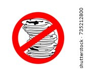 stop dirty dishes. do not use... | Shutterstock .eps vector #735212800