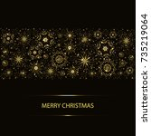 abstract christmas background... | Shutterstock .eps vector #735219064