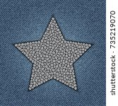 star with diamonds on jeans... | Shutterstock .eps vector #735219070