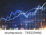 abstract business chart on... | Shutterstock . vector #735225400