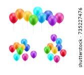 Lot Flying Balloons White...